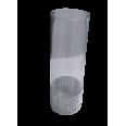 LOCATION bonbonniere vase cylindre ruban strass argent