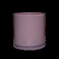LOCATION vase rond pot en verre rose bonbonnière