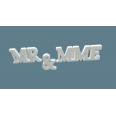 Location lettres Mr & Mme en bois Monsieur Madame