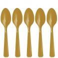 20 cuillères en plastique doré OR lumineux