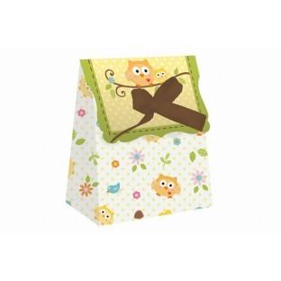 12 Boîtes cadeaux Arbre du bonheur hibou