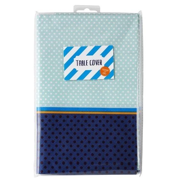 nappe en papier bleu ciel et marine pois et rayures bleu de bleu creative emotions. Black Bedroom Furniture Sets. Home Design Ideas