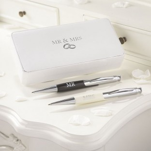 Set 2 stylos billes Mr and Mrs - Mariage Amore