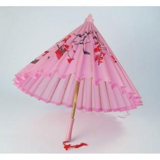 Ombrelle en soie rose Mariage