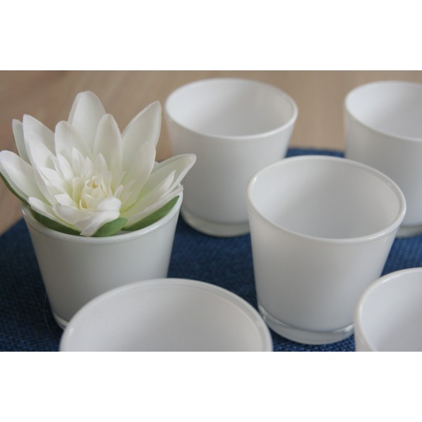 location photophore bougeoir vase blanc location deco. Black Bedroom Furniture Sets. Home Design Ideas