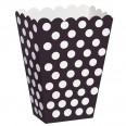 8 Pots à popcorn boîtes à bonbons noir