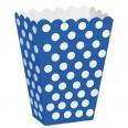 Pots à popcorn boîtes gourmandises bleu (x8)