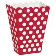 Pots à popcorn rouge à pois blanc (x8)