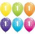 6 Ballons latex étoiles age 1 an premier anniversaire