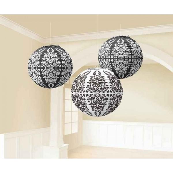 lanternes japonaises boules en papier baroque lampions creative emotions. Black Bedroom Furniture Sets. Home Design Ideas