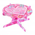 Présentoir à gâteau anniversaire Princesse rose