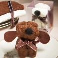 Serviette éponge chien cadeau invité