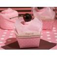 boite cupcake petite serviette cupcake, cadeau invité