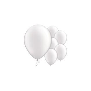 5 Ballons latex uni blanc