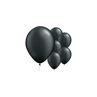 5 ballons latex noir uni