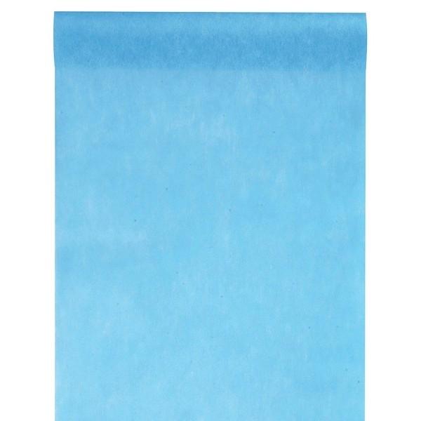 Chemin de table uni bleu turquoise nappages et for Chemin de table bleu