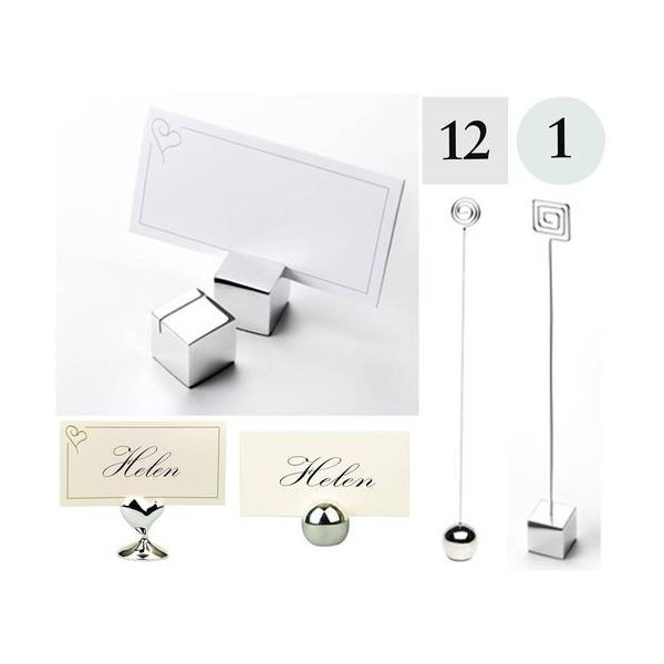 Support marque place boule d co table mariage creative emotions - Support nom de table mariage ...