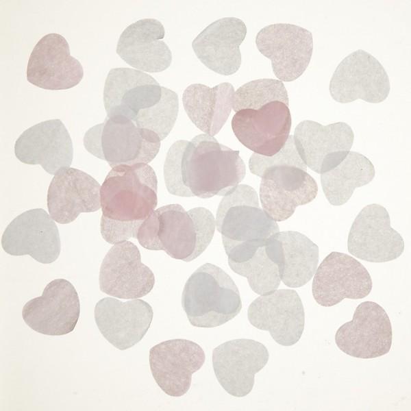 confettis papier biod gradables coeur rose blanc d co table mariage creative emotions. Black Bedroom Furniture Sets. Home Design Ideas