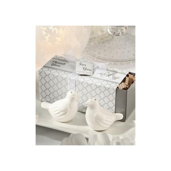 84cec44d81c6 Salière et poivrière oiseaux inséparables - Cadeaux invités communion -  Creative-Emotions.