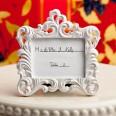 Cadre baroque blanc marque place mariage