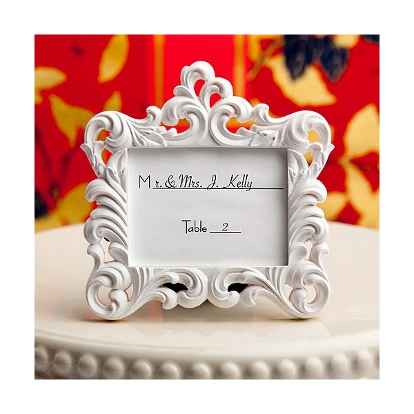 Cadre baroque blanc marque place mariage cadeaux invit s mariage creative - Marque place baroque ...
