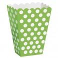 Pots à popcorn, boîtes à surprises, vert (x8)