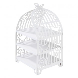 Présentoir gâteau étagère cage oiseau