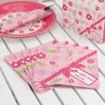 20 serviettes rose bonbon Little bird oiseau