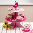 Support gâteaux rose bonbon Little bird