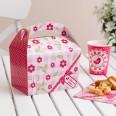 """8 boîtes cadeau """"little bird' rose bonbon"""