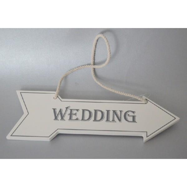 """Panneau directionnel mariage""""Wedding"""" Accueil Creative Emotions # Panneau Directionnel Bois"""