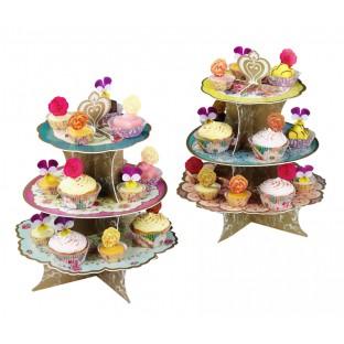 Présentoir cupcakes vintage English Tea party