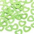 Confettis de table en forme coeur, vert