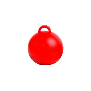 Poids pour ballons boule rouge 35gr