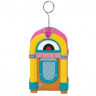 Décoration jukebox porte nom poids ballons
