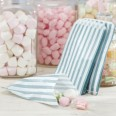 25 sachets bonbons vintage rayé gris blanc