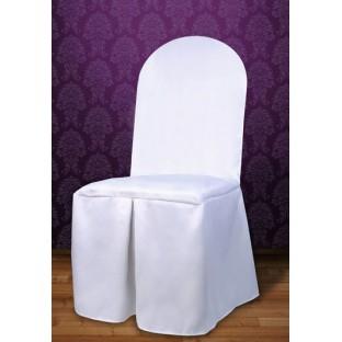 Housse de chaise en tissu blanc mariage housses et noeuds de chaise mariage creative emotions - Housses de chaises en tissu ...