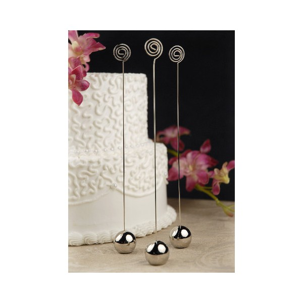 porte nom num ro de table mariage boule argent design d co table mariage creative emotions. Black Bedroom Furniture Sets. Home Design Ideas