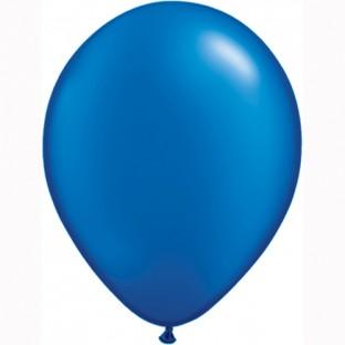 5 ballons latex bleu saphire