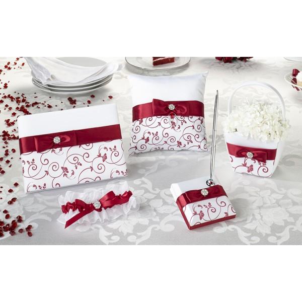 Deco urne mariage rouge et blanc - Deco mariage blanc et rouge ...