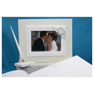 Livre d'Or personnalisable Mariage diamant coeur