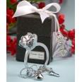 Porte clés bague solitaire, cadeau invité mariage