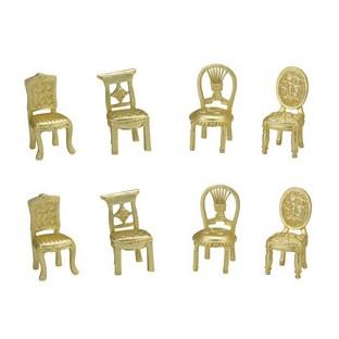 Marque place chaise miniature metal doré