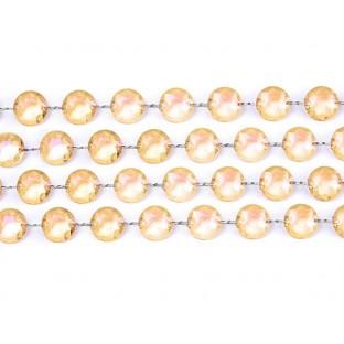 Guirlande de perles diamant cristal doré 1 metre
