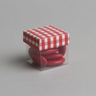 Boîtes à dragées mini cube vichy