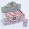 Confettis papier biodégradables coeur rose blanc