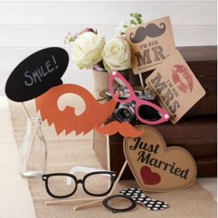 Kit Photobooth accessoires Mariage vintage