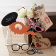 Wedding photo booth accessories
