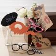 Kit Photobooth accessoires kraft Mariage vintage