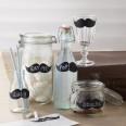 12 Etiquettes ardoise moustache DIY